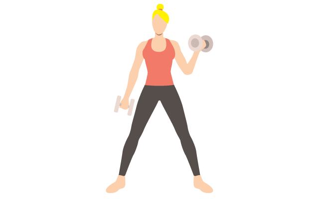 icon of a lady working out with weights