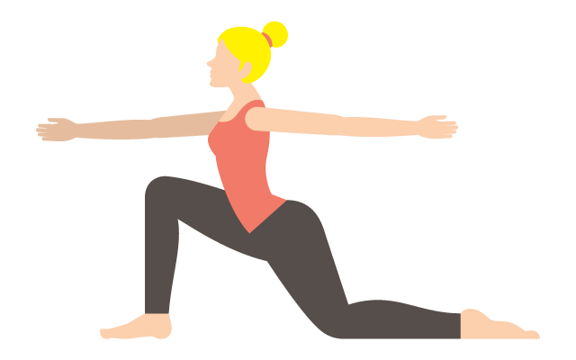 Icon of a lady lunging in a yoga position